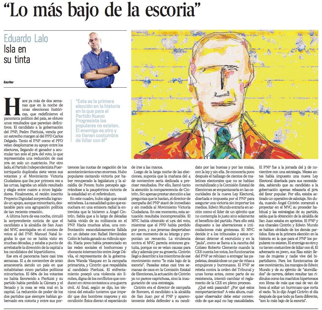 """Artículo de Eduardo Lalo - """"Lo más bajo de la escoria"""""""